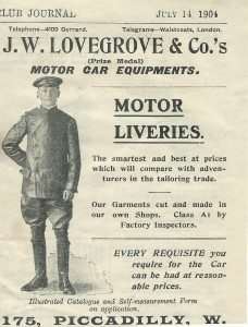 J W Lovegrove Advert -M