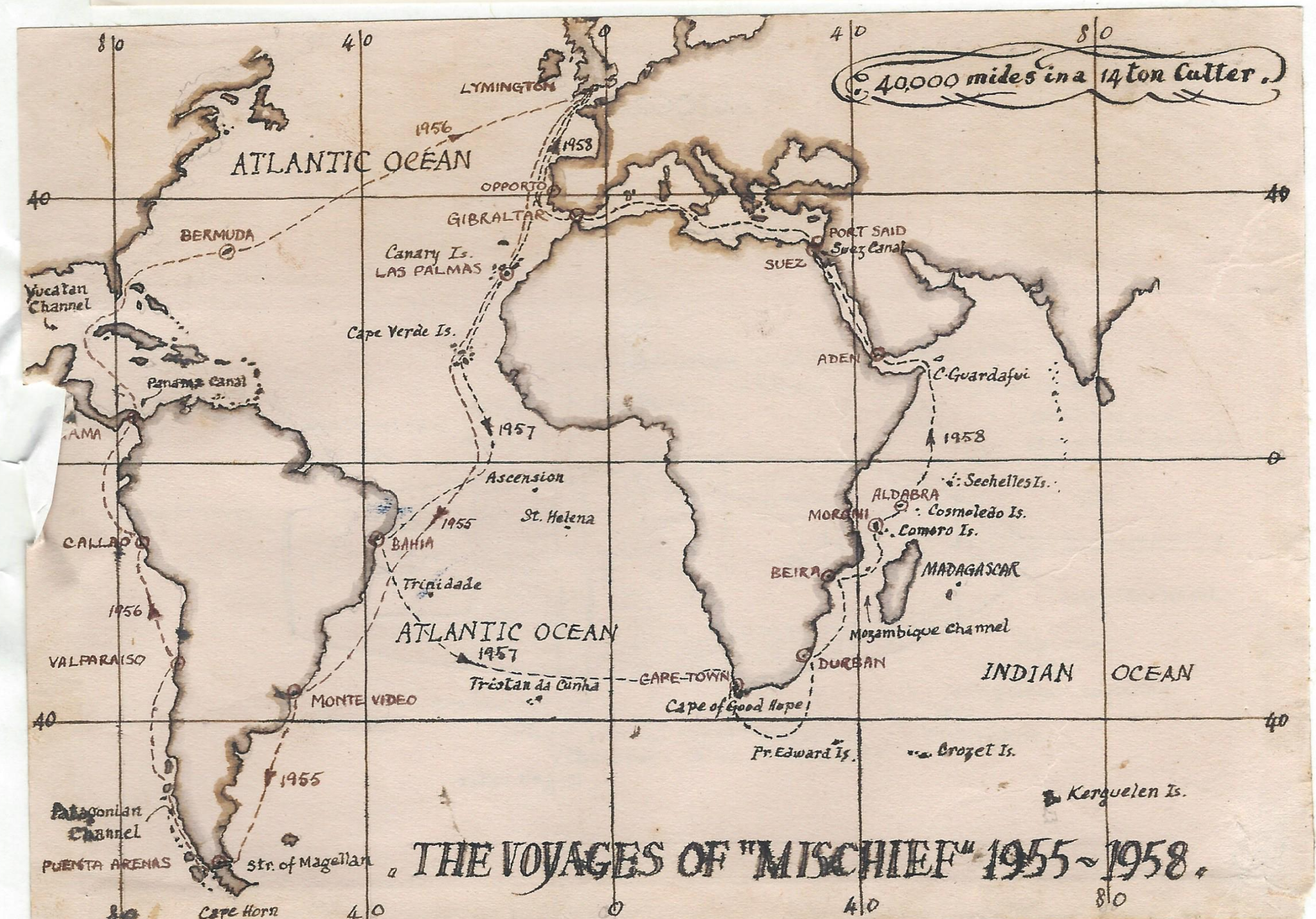 "The Voyages of ""Mischief"" 1955 ~ 1958"